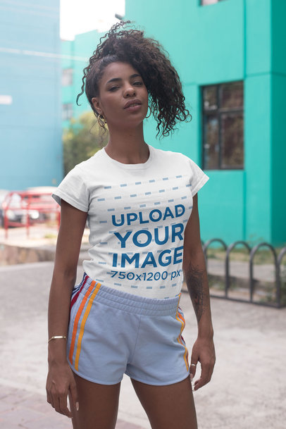 Black Models Wearing T-Shirts