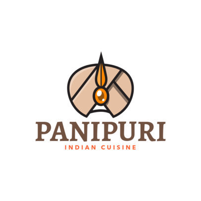Indian Food Restaurant Logo Template with a Traditional Sikh Illustration 1833a