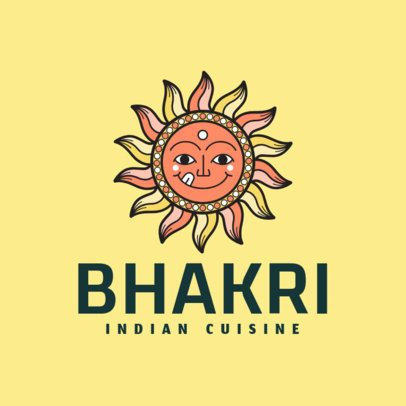 Restaurant Logo Generator for a Modern Indian Food Place 1833c