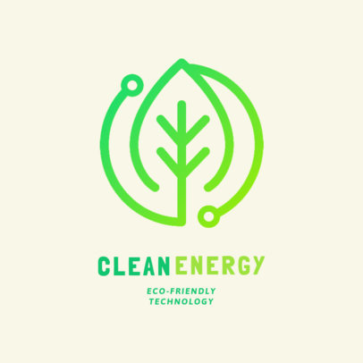 Renewable Energy Online Logo Maker with a Leaf Clipart