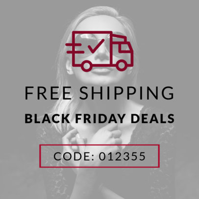 Free Shipping Promo Code Online Banner Maker for Black Friday 753a