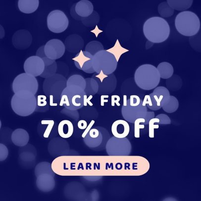 Huge Discount Online Banner Template for Black Friday 753b