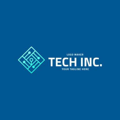 Technology Company Logo Maker with a Microchip Clipart 2174b