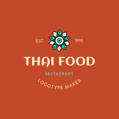 Thai Food Logo Maker with a Minimalist Design 1846