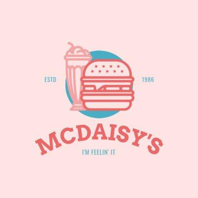Online Logo Maker for a Burger Ship Pink Theme 1248b