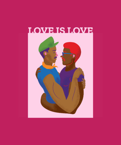 Love is Love LGBT T-Shirt Design 1293a