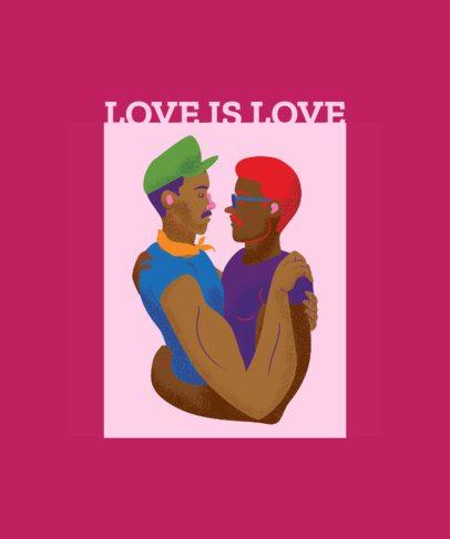 Love is Love LGBT T-Shirt Design 1293a