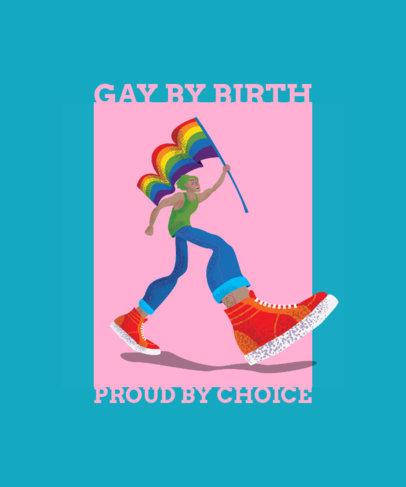 LGBTQ Pride T-Shirt Design with a Cool Illustration 1293d