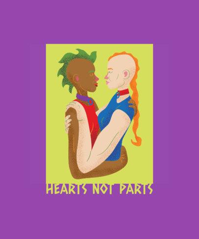 LGBTQ T-Shirt Design Featuring a Cute Couple Clipart 1293e
