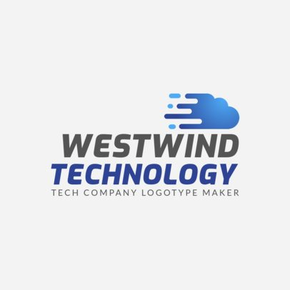 Modern Technology Company Logo Maker with a Cloud Graphic 2173