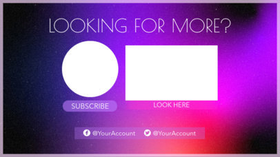 YouTube End Screen Maker with a Video Suggestion Placeholder 1259d