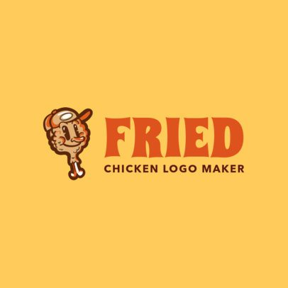 Logo Maker with Fried Chicken Clipart 1029a