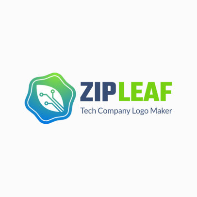 Tech Company Logo Maker with Eco-Friendly Design 2177a