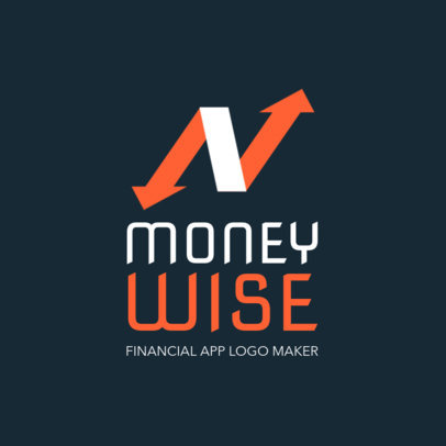 Logo Maker for a Mobile Financial App 1141f