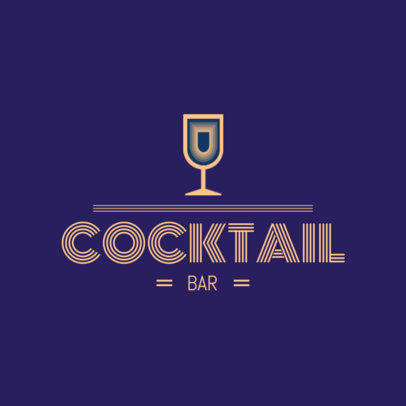 Logo Maker for a Cocktail Bar 1681c