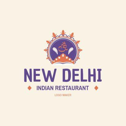 Classic Indian Restaurant Logo Generator 1830c
