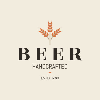 Handcrafted Beer Logo Maker 1654d