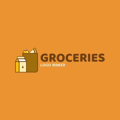 Grocery Store Logo Maker with Bag Icon 1190e