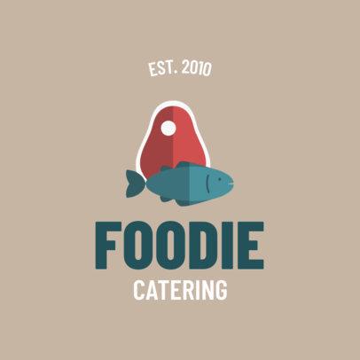Minimalistic Food Service Logo Maker 1924d