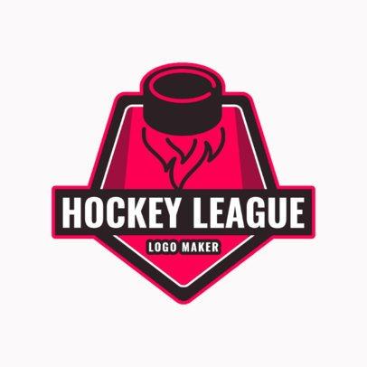 Hockey League Logo Maker 1562b