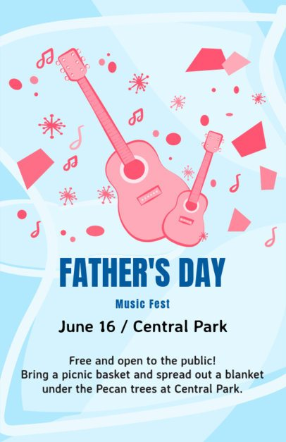 Online Flyer Template for a Father's Day Music Fest 83f