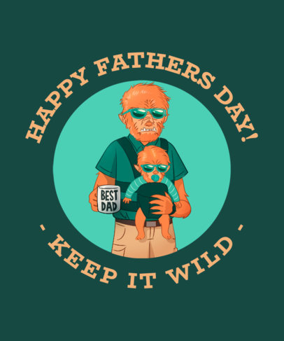 Wolf Man Themed Father's Day T-Shirt Maker 438f