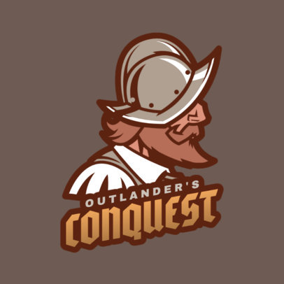 Gaming Logo Maker Featuring a Crusader 1847g