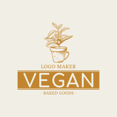 Vegan Bakery Logo Maker 1113e