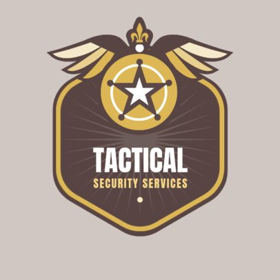 Professional Logo Maker for a Tactical Security Service Company 1786e