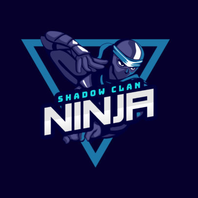 Gaming Logo Generator with a Ninja Character 1747b