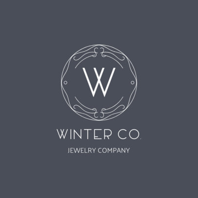 Jewelry Logo Template with a Trendy Design
