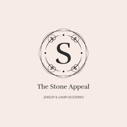 Fancy Jewelry Logo Template for an Elegant Jewelry Shop