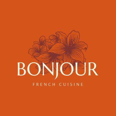 Elegant Logo Maker for French Restaurants 1219c
