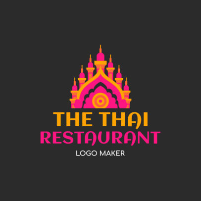 Logo Maker for a Thai Restaurant with a Palace Graphic 1843