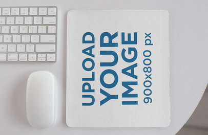 Minimal Mockup of a Mousepad Lying on a White Table 27564
