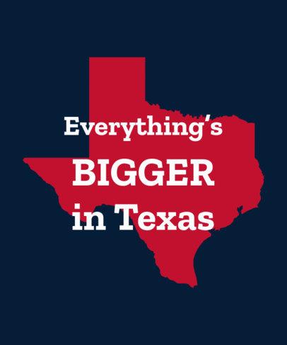 T-Shirt Design Template Featuring a Texas Map Silhouette 1382a