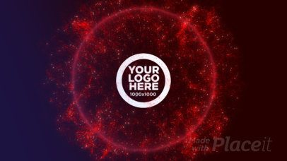 Logo Reveal Video Maker with Particles Exploding 1626