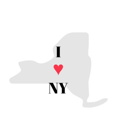 I Heart New York T-Shirt Design Template 1382b