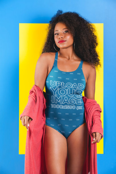 2fff337093596f Placeit - Swimsuit Mockup of a Sassy Woman with Sunglasses