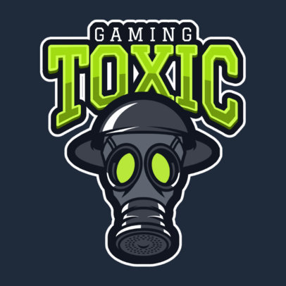 Gaming Logo Maker with a Gas Mask Clipart 1869