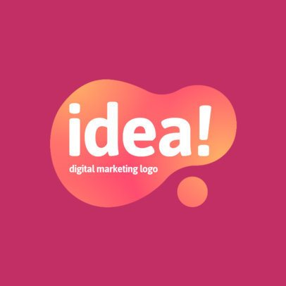 Marketing Company Logo Maker with a Spot of Color 2226