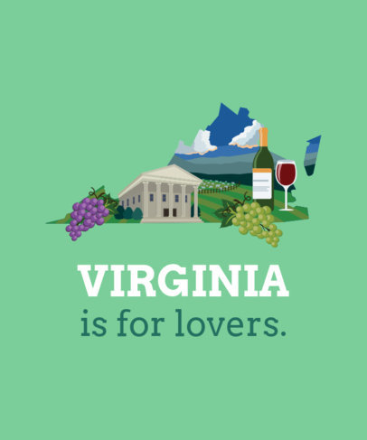 Virginia Landscape T-Shirt Design Maker
