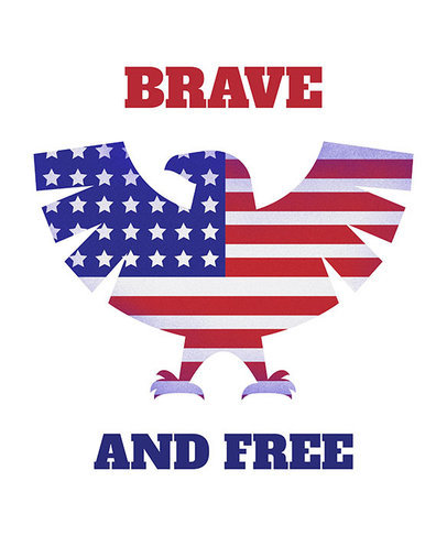 Patriotic American Eagle T-Shirt Design Template