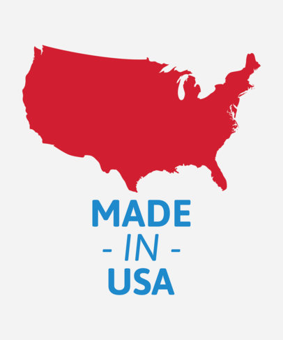 T-Shirt Design Maker with the United States of America Map Silhouette 1414