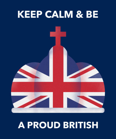 T-Shirt Design Maker Featuring a British Crown 1405a