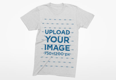 Mockup of a T-Shirt with a Plain Background