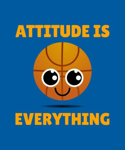 T-Shirt Design Maker Featuring a Basketball Cartoon Graphic 1037f