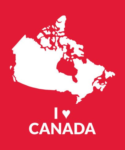 T-Shirt Design Maker with an I Love Canada Theme 1414b