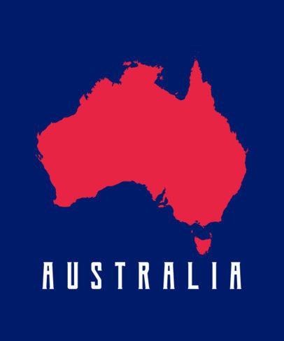 Patriotic T-Shirt Design Maker with an Australian Map 1414d