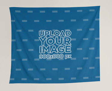 Wall Tapestry Mockup against a Solid Color Background 27402